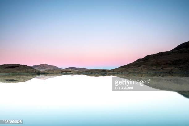 Snowdon Lake Sunset North Wales