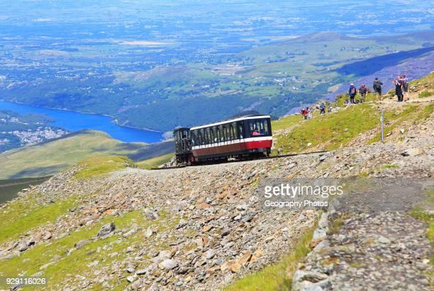 Snowdon Mountain railway, Llanberis, Gwynedd, Snowdonia, north Wales, UK.
