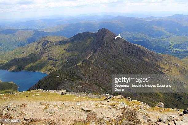 snowdon summit - mount snowdon stock pictures, royalty-free photos & images