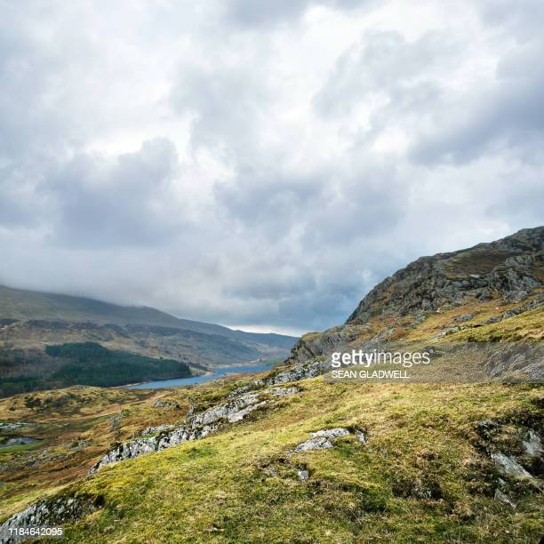 snowdonia landscape - valley stock pictures, royalty-free photos & images