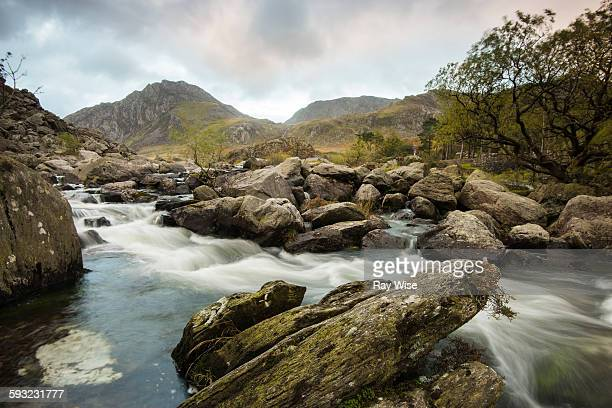 snowdonia mountain sunrise - rapid stock pictures, royalty-free photos & images