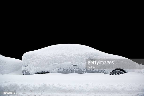 snowed in car - heap stock pictures, royalty-free photos & images