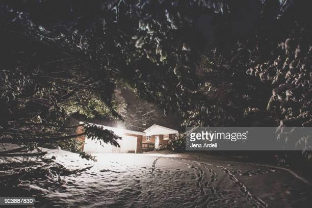 Snowed In, House In Snow, Winter House, Home For The Holidays