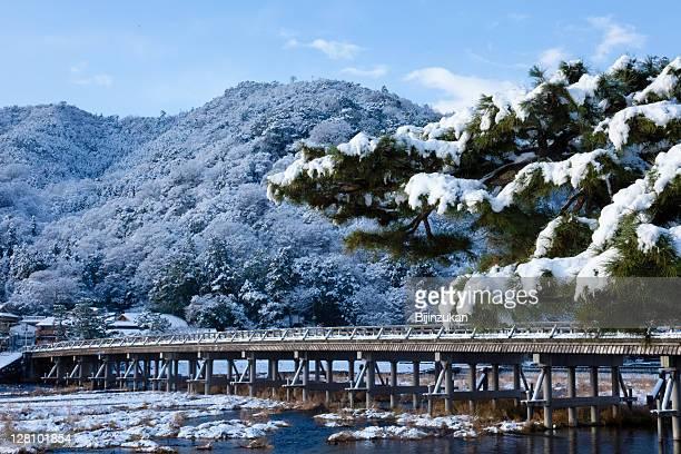 Snowfall in Kyko, Arashiyama