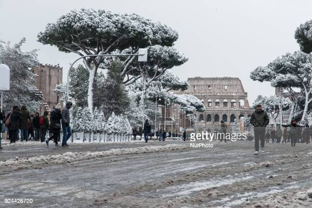 Snowfall in the night in the capital city The snowfall connected to the arrival of Burian whitewashed the center of the capital with iconic monuments...