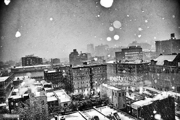 Snowfall Over Harlem NYC