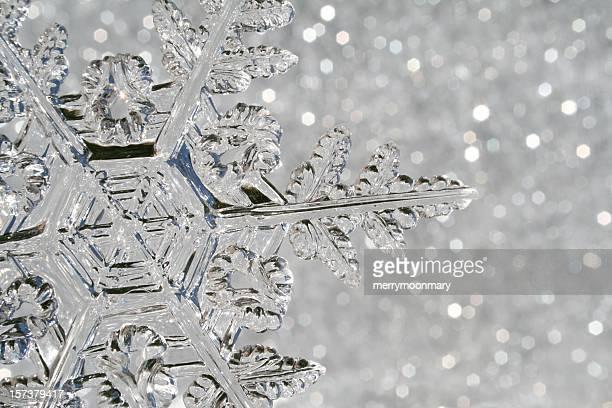 macro de flocon de neige