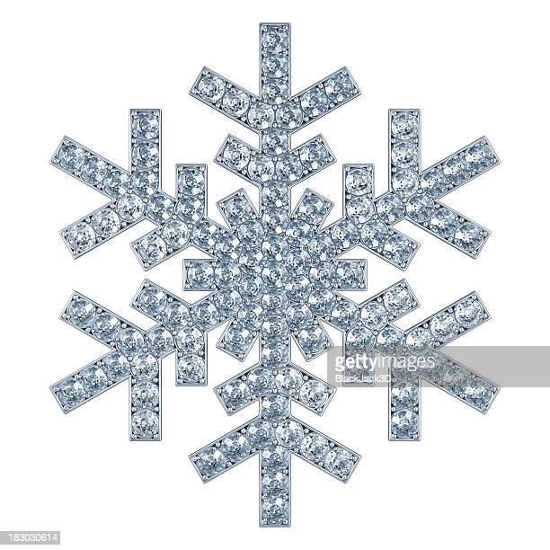 Schneeflocke mit Diamanten