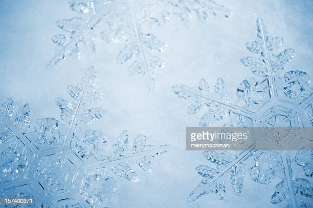 snowflakes background - snowflake stock pictures, royalty-free photos & images