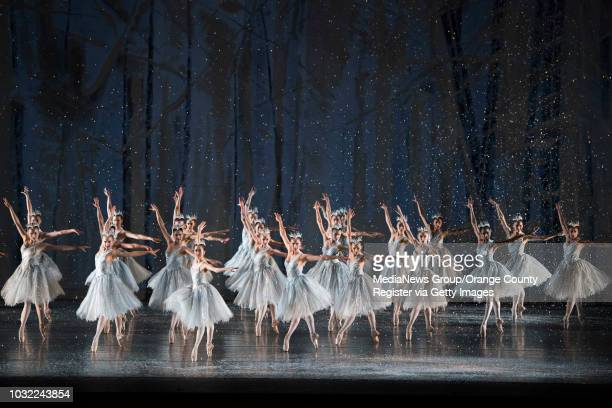 Snowflakes fall as dancers perform during American Ballet Theatre's The Nutcracker at Segerstrom Hall in Costa Mesa on Thursday Dec 7 2017