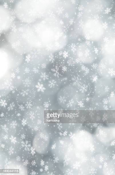 Snowflakes Infront Of Defocused Lights