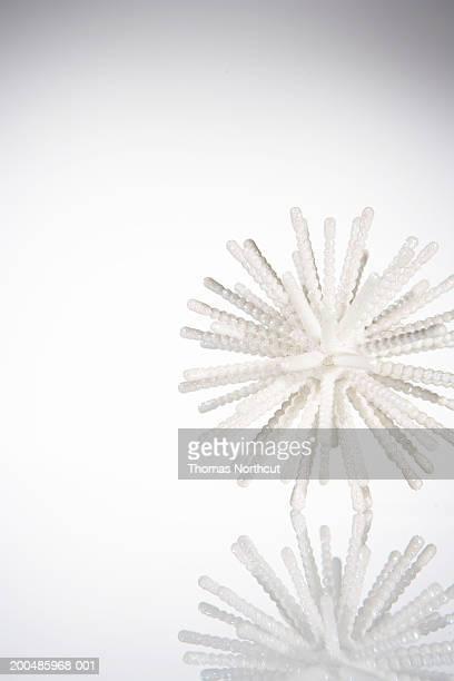 Snowflake-shaped Christmas ornament