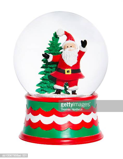 Snow-globes with Santa Claus