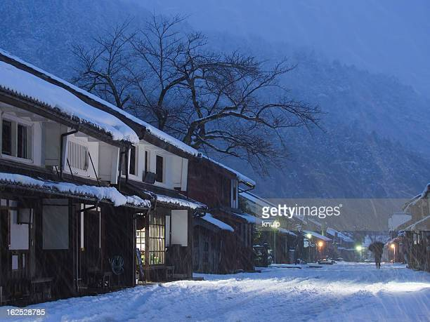 Snowing country