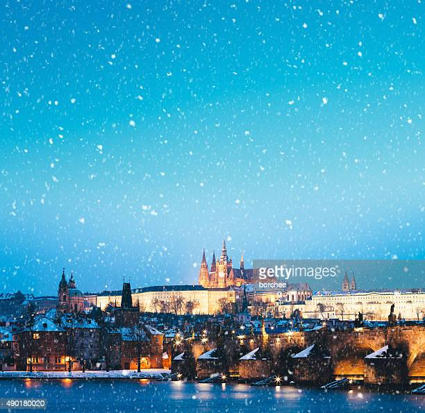 Snowing In Prague