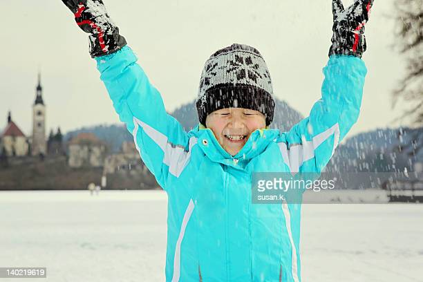 snowing - kranj stock pictures, royalty-free photos & images