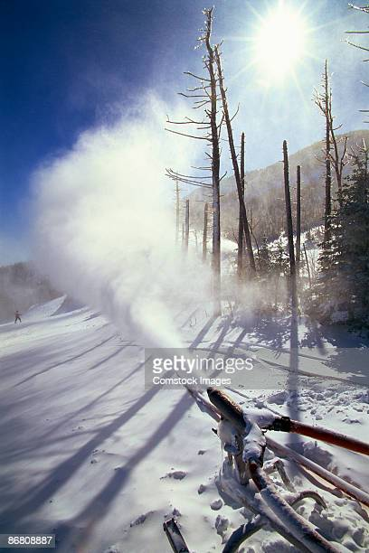Snowmaking-gun at top of Jay Peak Ski Resort