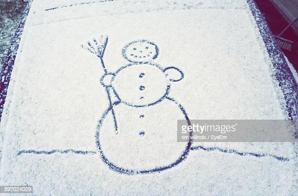 Snowman Art On Snow