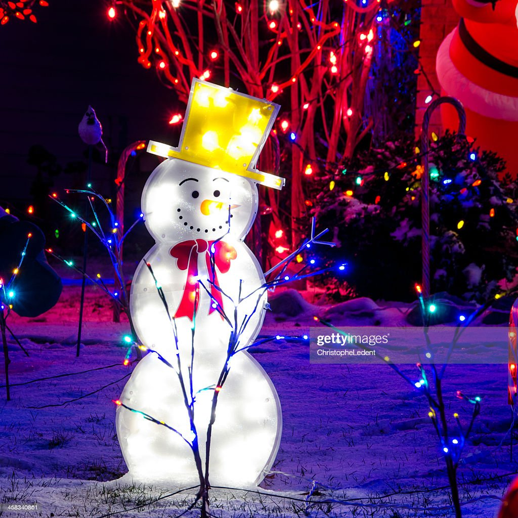 Snowman Christmas Lights  Stock Photo & Snowman Christmas Lights Stock Photo | Getty Images azcodes.com