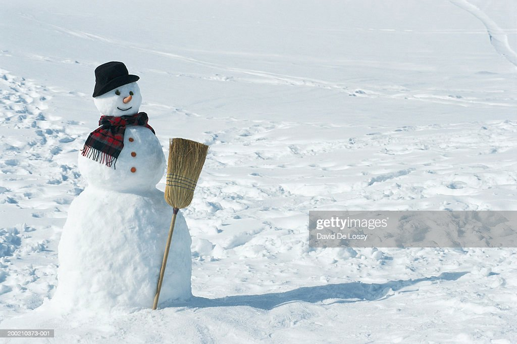 Snowman, close up : ストックフォト