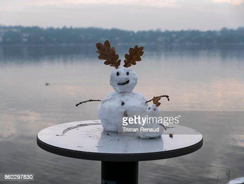 Snowman in Geneva