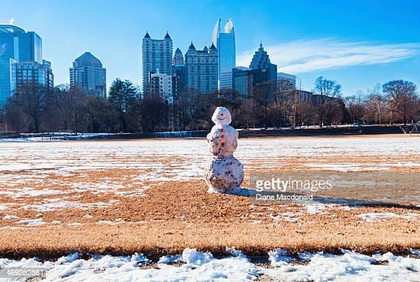 A snowman in Piedmont Park, Atlanta