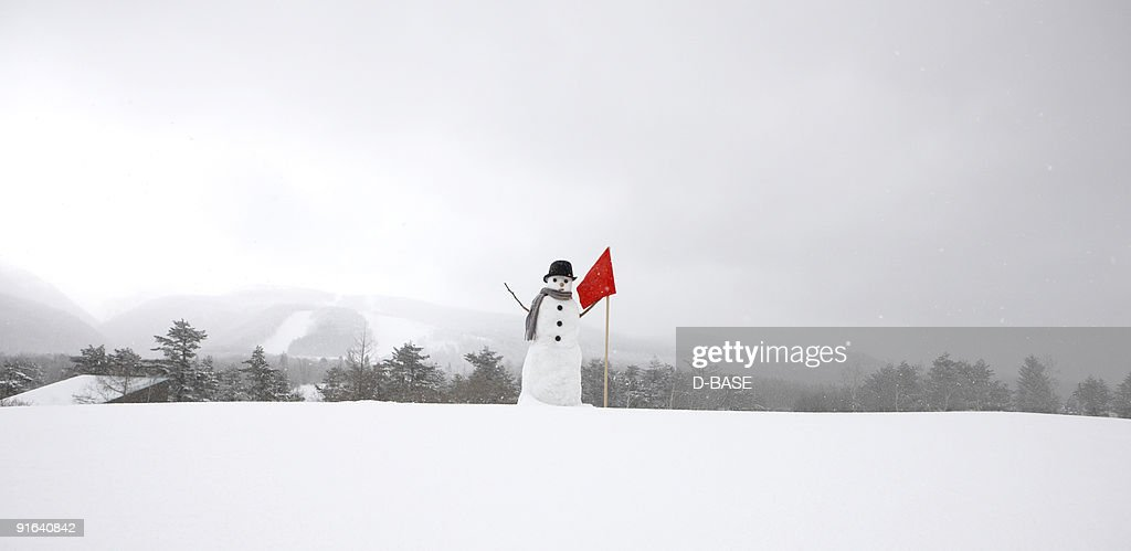 Snowman in snow : ストックフォト