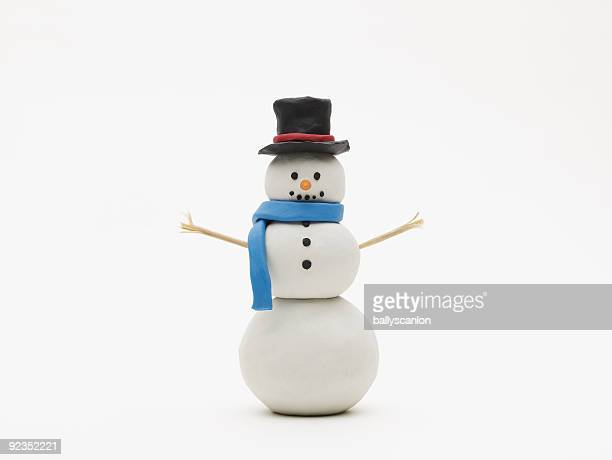 Snowman on a White Background.