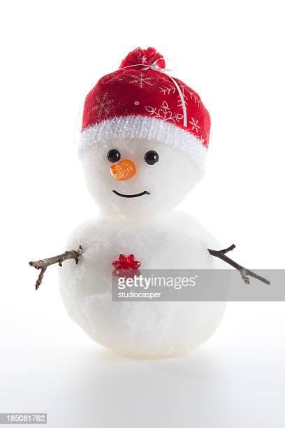Schneemann (echtem Schnee