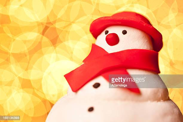 snowman portrait - marzipan stock pictures, royalty-free photos & images