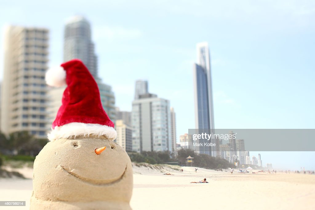 Snowmen are replaced by 'sandmen' on Australias iconic surf beaches on the Gold Coast, Queensland. Queensland's beaches rank amongst the best in the world and Christmas in Queensland is about sun and summer. You'll find the warmest, whitest, biggest and most beautiful beaches stretched along the 7,400km coastline of Queensland, Australia.