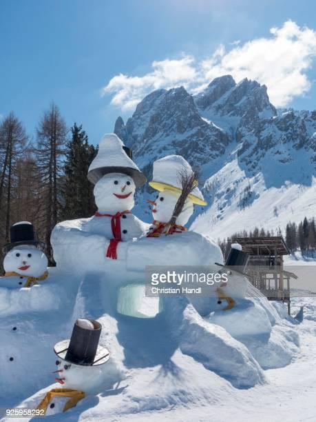 Snowmen, Rotwand, Trentino-Alto Adige, Italy