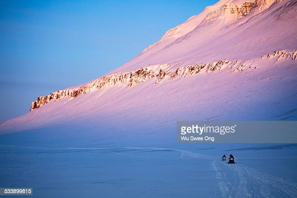 Snowmobile Expedition in Arctic Wilderness