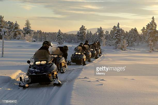 snowmobile expedition winter landscape