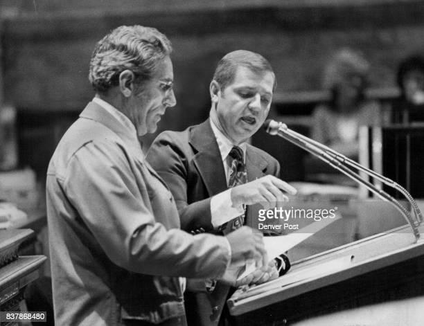 Snowmobile Registration Bill Debated In State senate Sen Eldon Cooper left DThornton and Sen Ted Strickland RWestminster took part in the long debate...