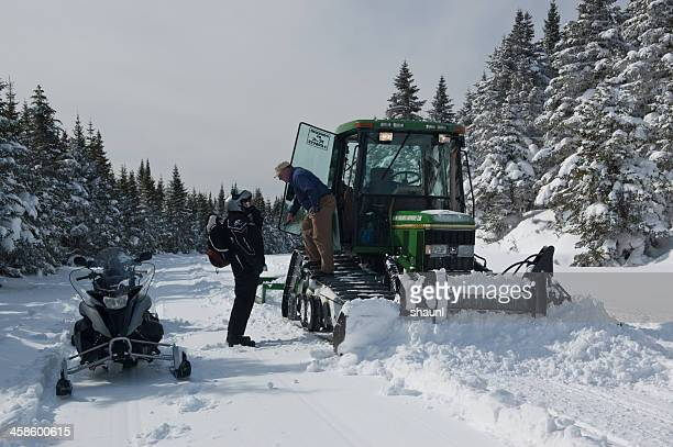 snowmobiling in cape breton - cape breton island stock pictures, royalty-free photos & images