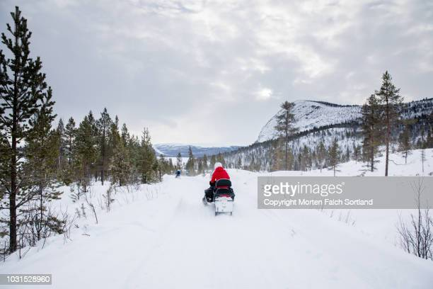 snowmobiling in southern norway - verwaltungsbezirk buskerud stock-fotos und bilder