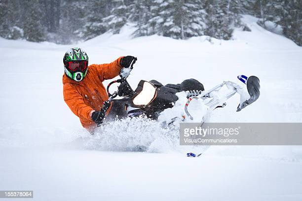 snowmobiling. - snowmobiling - fotografias e filmes do acervo