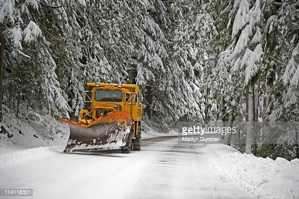 snowplow, mt rainier national park, washington - snowplow stock pictures, royalty-free photos & images