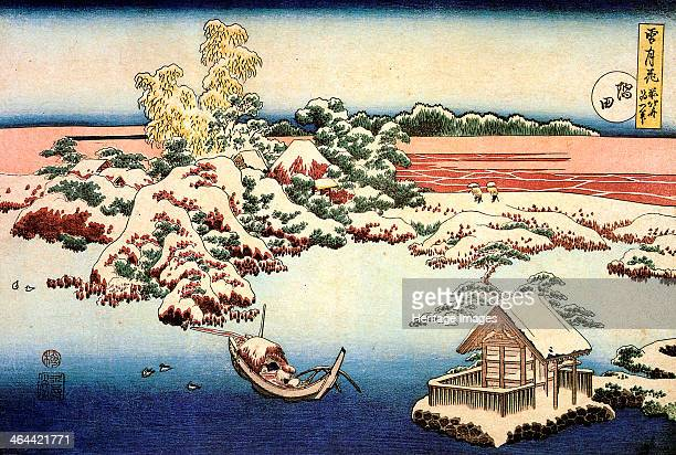 Snowscape by the Sumida River c1832 Hokusai Katsushika State A Pushkin Museum of Fine Arts Moscow