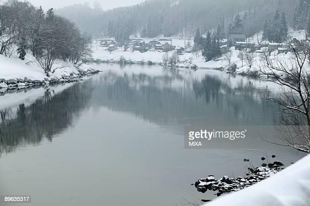 Snowscape Of River