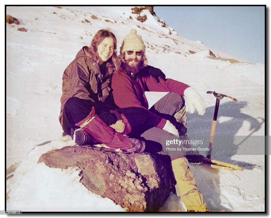 Snowshoe trip to Camp Muir : Stock Photo