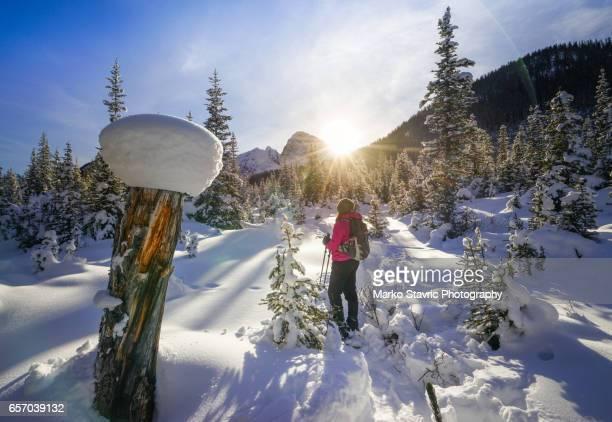 Snowshoeing in Canadian Rockies