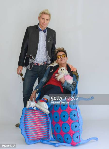 SnowWhite 90210 Patrik Simpson and Pol' Atteu wearing Foster Grant sunglasses at The Artists Project Giveback Day on March 14 2018 in Los Angeles...