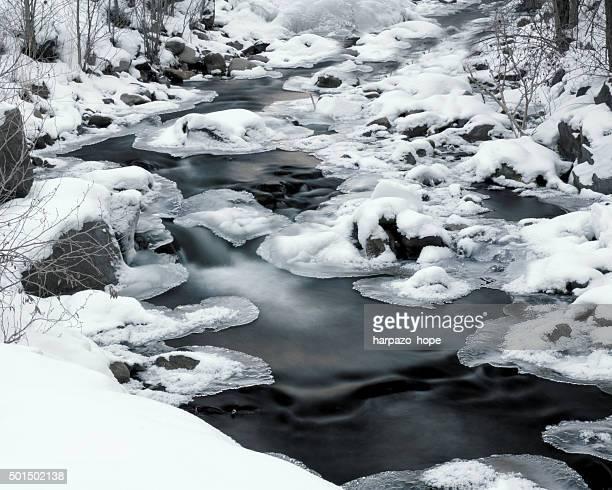 Snowy Creek in Winter