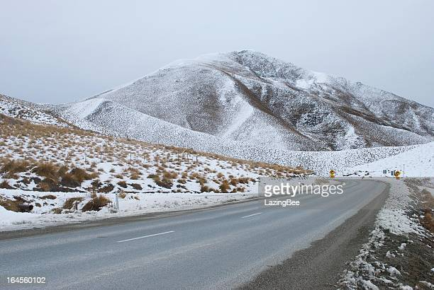 Snowy Day on Lindis Pass, Otago Region, NZ