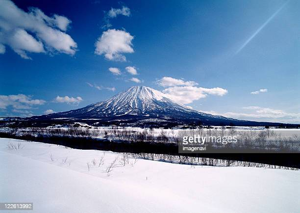 Snowy Field and Mt. Yotei