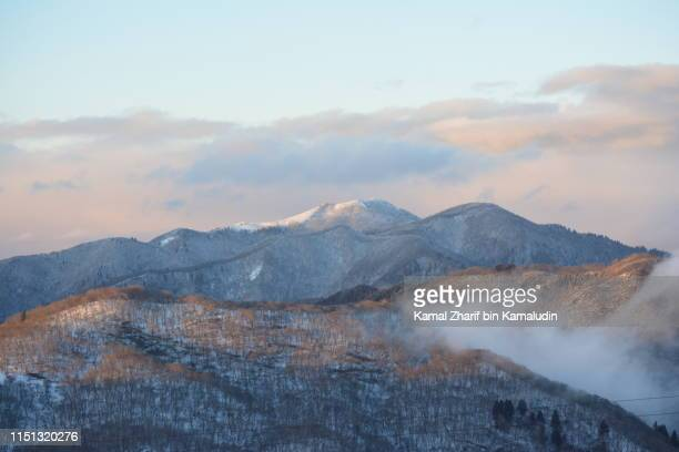 Snowy Hira mountains during dusk