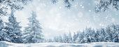 snowy idyllic winter landscape panorama