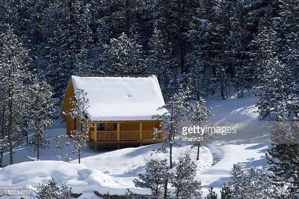 Snowy Mountain Cabin in the Woods